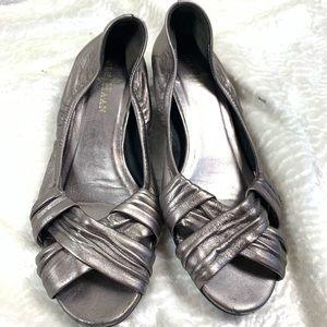 Cole Haan short wedge peep toe size 5